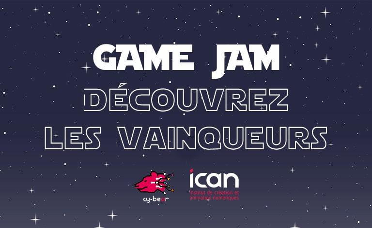 Visuel actualité Game Jam vainqueurs