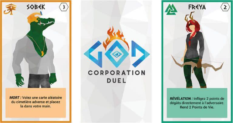 Visuel actualité - jeu de carte 2 God Corporation